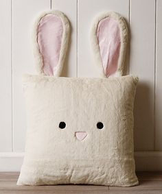 Look at this Cream Bunny Plush Faux Fur Pillow on #zulily today!                                                                                                                                                                                 More