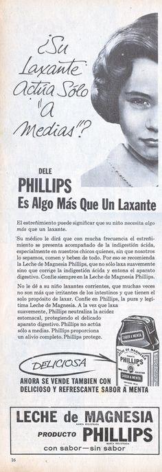 Leche de Magnesia Phillips 1963