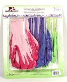 Wells lamont womens gardening gloves 6 pairs in a package * Learn more by visiting the image link. (This is an affiliate link)