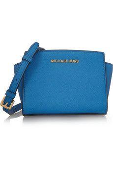 MICHAEL Michael Kors Selma mini textured-leather shoulder bag