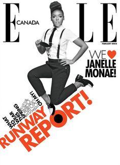 Janelle Monae covering ELLE Canada