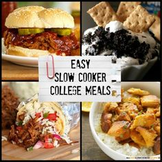Easy Slow Cooker College Meals | These are the perfect slow cooker recipes (and easy dinner recipes) for someone living on their own for the first time! They're simple to make but make for a great meal.