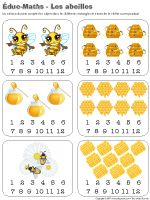 Éduc-Maths - Les abeilles Daycare Themes, Emergent Curriculum, Bee Theme, Bugs And Insects, 2nd Grade Math, Tot School, Bee Keeping, Teacher Resources, Preschool Activities