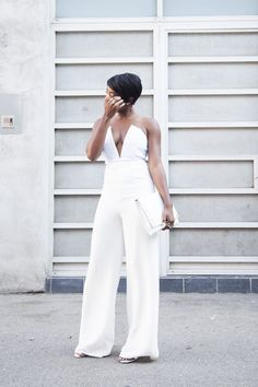Diner En Blanc Wearing: Akira top, Missguided pants, Missguided blazer, Ted Baker clutch Fashion By Locks And Trinkets