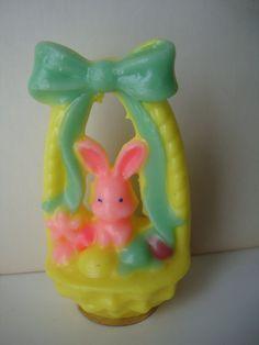 vintage Easter basket Gurley candle