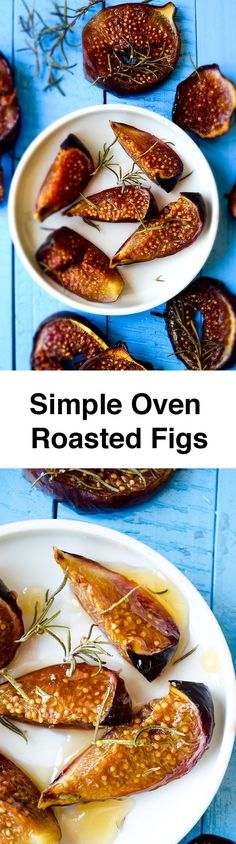Simple Oven Roasted Figs couldn't be easier! Put the figs in oven and ...