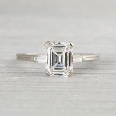 1.41 Carat Vintage Tiffany & Co. Emerald Cut by ErstwhileJewelry