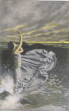 'Maxfield Parrish - Through the night she calls to men, 1901