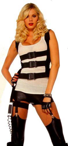 Leg Avenue SWAT Body Harness Sexy Halloween Costume Cosplay Garter iPhone Cord