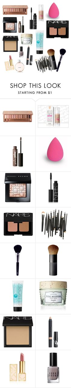 """cotillion makeup"" by morgansumicek ❤ liked on Polyvore featuring beauty, Urban Decay, Benefit, Bobbi Brown Cosmetics, NARS Cosmetics, Napoleon Perdis, St. Tropez, Nudestix and Tory Burch"