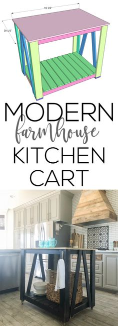 Not all of us have a large space to put a giant kitchen island, but we do have room for a cute island cart, and today that's just what we are building! Before we get started, be sure to check out our YouTube video tutorial