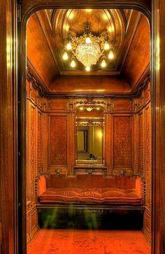 Antique elevator, ca. 1900