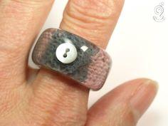 Strick-Teilchen – Außergewöhnlicher Strick-Ring von Geschmeide unter Teck auf DaWanda.com