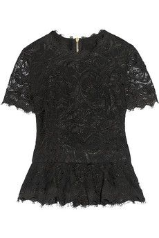 84661c6c73337a Emilio Pucci - Guipure lace peplum top