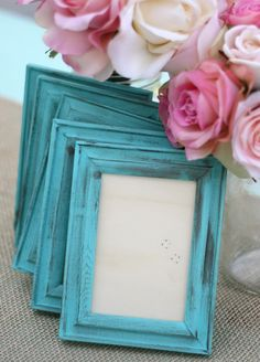 Photo frames for table numbers, etc.