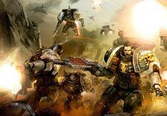 김구농의 강철의 가마솥 : [Warhammer of Man `Deathwatch` Kill Team. Warhammer Deathwatch, Warhammer 40k Art, Warhammer 40k Miniatures, Tau Empire, Far Future, Tyranids, Alien Races, Angel Of Death, The Grim