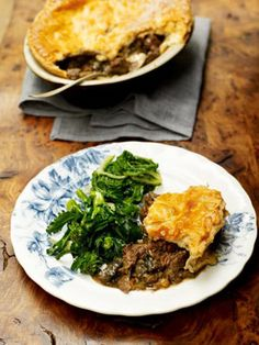 Old-School Venison Pie with Juniper, Rosemary & Bay with a Golden Puff Pastry Lid: Jamie Oliver (UK) Venison Pie, Venison Recipes, Pie Recipes, Dinner Recipes, Recipies, Pastry Recipes, Lunch Recipes, Baking Recipes, Dinner Ideas