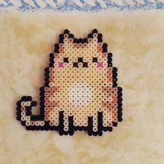 Pusheen cat hama mini beads by hamabeads_maniacs
