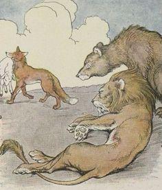 il leone, l'orso e la volpe