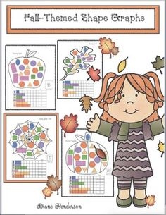 Free Shapely Fall-Themed Graphing Activities by Teach With Me Graphing Worksheets, Graphing Activities, Apple Activities, Autumn Activities, Preschool Activities, Geometry Games, Classroom Freebies, Classroom Ideas, Kindergarten Math