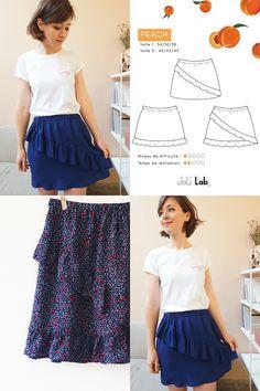 Waist Skirt, Midi Skirt, High Waisted Skirt, Fashion Mode, Sewing Patterns, Peach, Diy Projects, Embroidery, Skirts