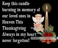 In Memory Of Loved Ones In Heaven On Thanksgiving