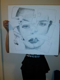 Fragmented drawing Amazing Art, Drawings, Sketches, Drawing, Portrait, Draw, Grimm, Illustrations