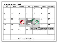 Calendrier à imprimer septembre 2017 - Tiberius - France
