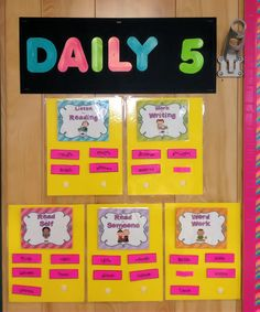 """Daily 5 book by """"The Sisters"""" With for dummies: a step by step what to do and say along with book choice. A definite user friendly way Includes ideas for anchor charts used in setting up the Daily Daily 5 Reading, First Grade Reading, Teaching Reading, Guided Reading, Teaching Ideas, Reading Skills, Teacher Resources, Daily 5 Activities, Literacy Activities"""