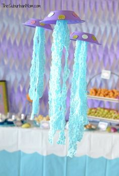 DIY Jellyfish Party Decoration Craft Tutorial for an Under the Sea party: The Little Mermaid, Octonauts, Etc.