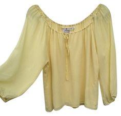 9b3a288a2 Tommy Hilfiger Yellow Blouse Size 14 (L)