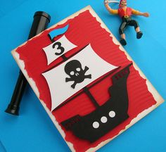 Pirate Ship Birthday Invitation set of 8 by DianesPaperParty, $26.00