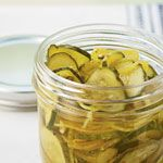 Easy Refrigerator Pickles.  This looks like such a fun use for our bountiful summer CSA cucumbers!