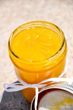 Orange Dreamsicle Sugar Scrub...time to replenish my sugar scrubs...this one looks heavenly, bet it smells lush too!