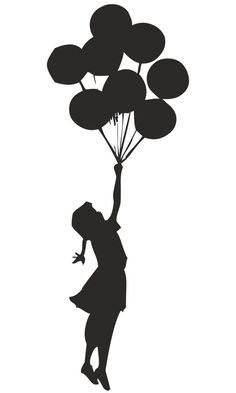BANKSY GIRL FLOATING WITH BALLOONS WALL STICKER GRAFFITI VINYL DECAL ART  in Home, Furniture & DIY, Home Decor, Wall Decals & Stickers | eBay!