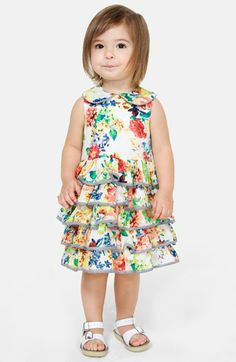Pippa & Julie Floral Ruffle Dress & Bloomers (Baby Girls)   Nordstrom