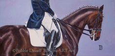 Forward  Dressage Oringinal Oil Painting  12 x 24 by bdfineart, $850.00 www.bdfineart.net