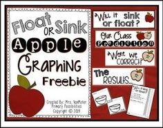 """FREE SCIENCE LESSON - """"Float or Sink (Apple Graphing) Freebie"""" - Go to The Best of Teacher Entrepreneurs for this and hundreds of free lessons. Pre-Kindergarten - 2nd Grade   #FreeLesson   #Science   http://thebestofteacherentrepreneursiv.blogspot.com.co/2016/10/free-science-lesson-float-or-sink-apple.html"""