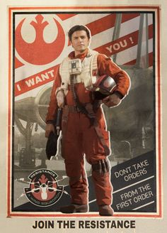 piloting-the-storm:  Poe Dameron - Poster Boy of the...