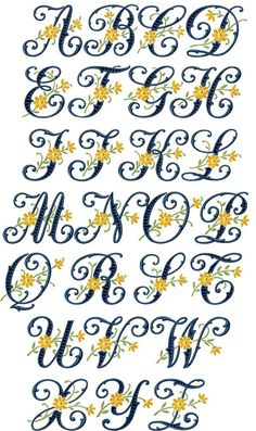 FREE EMBROIDERY FONTS DESIGNS - Embroidery Designs