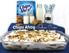 Chips Ahoy Icebox Cake - I remember I ate that when I was little. I was looking for this recipe forever! Chips Ahoy Icebox Cake - I remember I ate that when I was little. I was looking for this recipe forever! Chips Ahoy, Oreo Dessert, Eat Dessert First, Dessert Simple, Dessert Healthy, Yummy Treats, Sweet Treats, Yummy Food, Chips Au Four