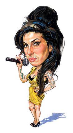Amy Winehouse caricature by ART of Victoria, Canada Amy Winehouse, Funny Caricatures, Celebrity Caricatures, Robert Louis Stevenson, John Travolta, Scream Queens, New Artists, Rock Art, Disney Pixar