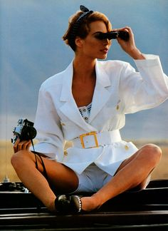 Vogue UK January 1992  Plain Beautiful  Photographer: Arthur Elgort  Model: Christy Turlington