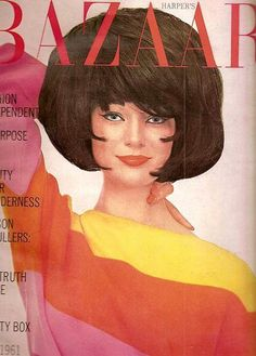 Ivy Nicholson in a Falconetta sweater, cover by Richard Avedon, July 1961