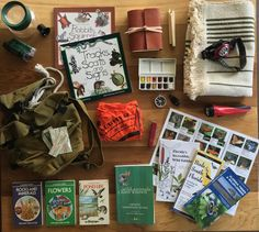 Field Pack Contents for nature study days (plus snacks) Instagram photo by @farmhouse_schoolhouse