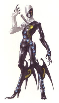 Nyarlathotep seen in Shin Megami Tenai series. Artist: Kazuma Kaneko(?)