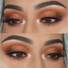Discover these smokey eye makeup Image# 2534 - Natural Makeup Paso A Paso Korean Makeup Tips, Eye Makeup Tips, Smokey Eye Makeup, Makeup Goals, Eyeshadow Makeup, Hair Makeup, Eyeshadows, Coral Eye Makeup, Orange Makeup