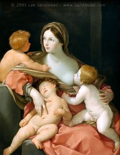 Charity Guido Reni (Italian, Bologna Bologna) Medium: Oil on canvas Dimensions: 54 x 41 ¾ in. x 106 cm) Metropolitan Museum of Art Baroque Painting, Italy Painting, Baroque Art, Italian Baroque, Poster Prints, Framed Prints, Canvas Prints, Breastfeeding Art, European Paintings