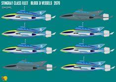 Gerry Andersons Stingray Block 3 Vessels by ArthurTwosheds on DeviantArt Series Movies, Tv Series, Kids Shows, My Childhood, Sci Fi, Deviantart, Digital Art, Cartoons, Ships