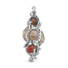 Carolyn Pollack Jewelry | Changing Seasons Mixed Metal Autumn Pendant Enhancer